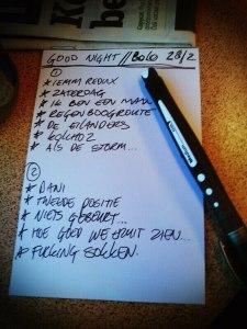 Setlist Good Night Poetry